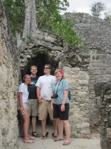 In Mexico with the other members of my NU Grad class, Greg Lehn, Miguel Merino, and Emily Wolin.