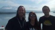 Sean Gulick, Christian Maerz and myself at the dock in Valdez.