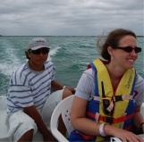 Racing around near Akumal during the 2010 EPS Yucatan Field Trip.
