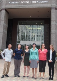 Visiting NSF with the Schlanger Fellows in the summer of 2014.