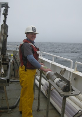 Getting equipment ready on the R/V Wacoma during the UNOLS Early Career Training Cruise in 2011.