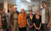 Lab visit from Bill Bassett and Elise Skalwold.