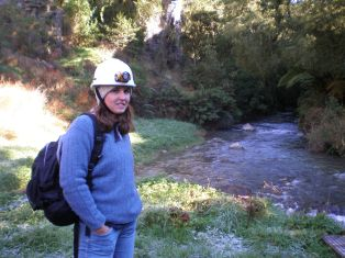 Getting ready to enter the Waitomo Caves, 2007.
